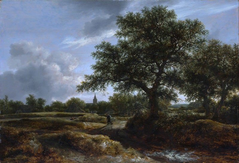 Jacob van Ruisdael - Landscape with a Village in the Distance. Metropolitan Museum: part 3