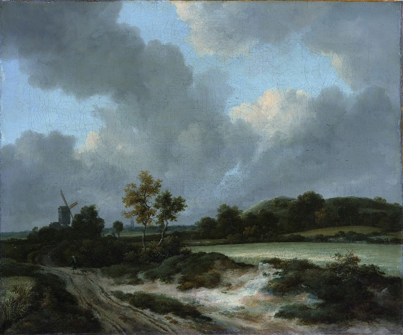 Jacob van Ruisdael - Grainfields. Metropolitan Museum: part 3
