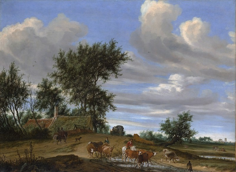 Salomon van Ruysdael - A Country Road. Metropolitan Museum: part 3