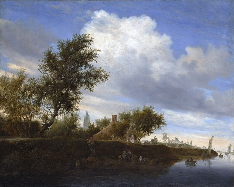 Salomon van Ruysdael - Ferry near Gorinchem. Metropolitan Museum: part 3