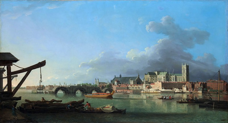 Samuel Scott - The Building of Westminster Bridge. Metropolitan Museum: part 3
