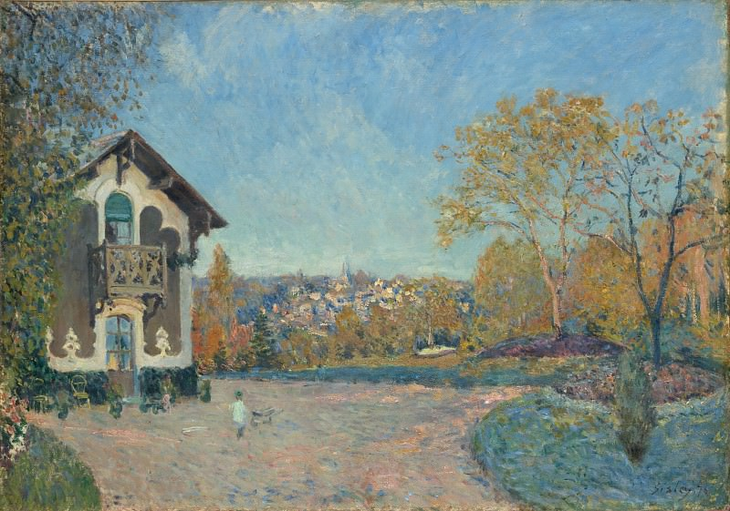 Alfred Sisley - View of Marly-le-Roi from Coeur-Volant. Metropolitan Museum: part 3
