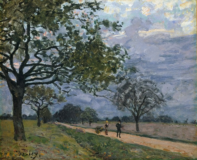 Alfred Sisley - The Road from Versailles to Louveciennes. Metropolitan Museum: part 3