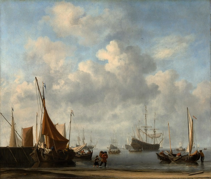 Willem van de Velde II - Entrance to a Dutch Port. Metropolitan Museum: part 3