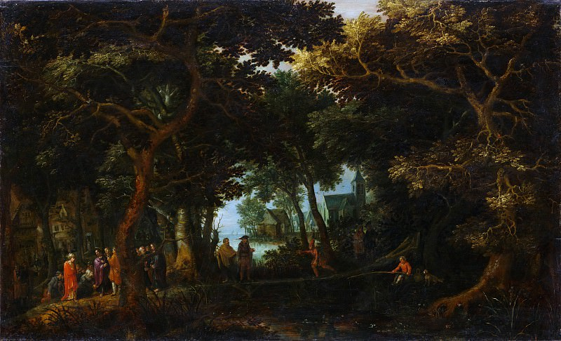 David Vinckboons - Forest Landscape with Two of Christ's Miracles. Metropolitan Museum: part 3