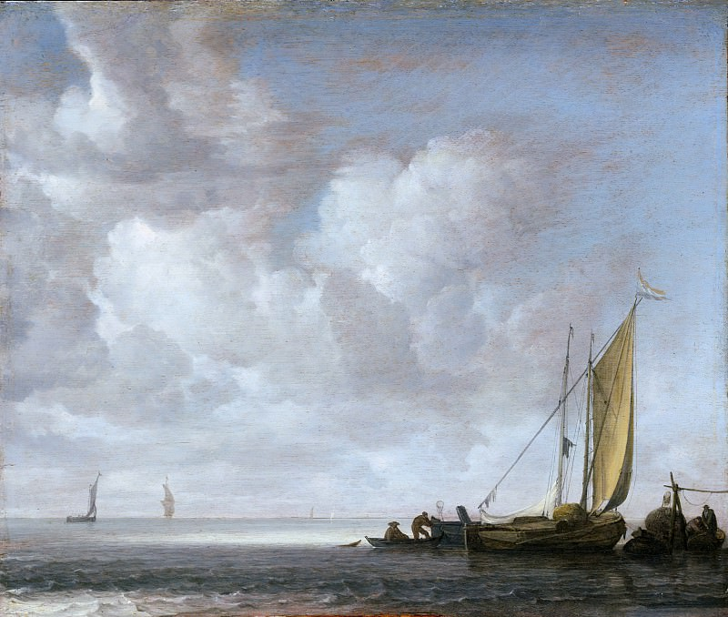 Simon de Vlieger ca. 1600/1601–1653 Weesp) - Calm Sea. Metropolitan Museum: part 3