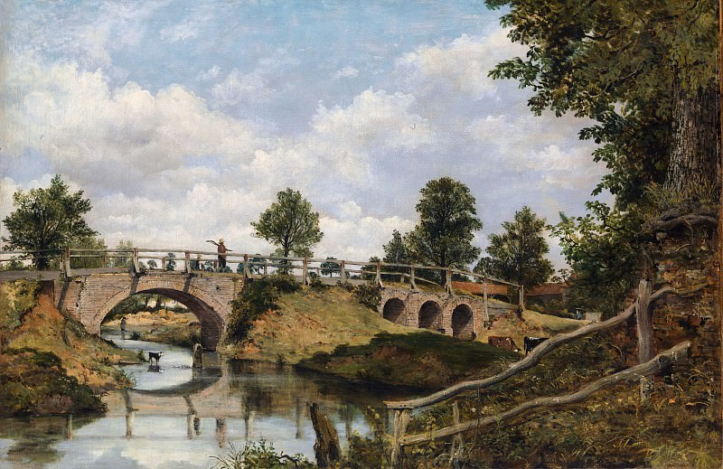 Frederick Waters Watts - An Old Bridge at Hendon, Middlesex. Metropolitan Museum: part 3