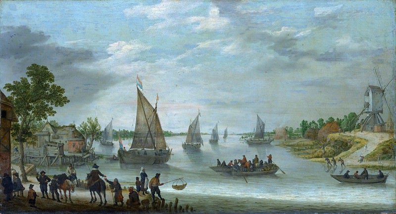 Adam Willaerts - River Scene with Boats. Metropolitan Museum: part 3