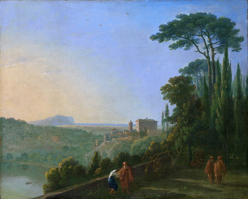 Richard Wilson - Lake Nemi and Genzano from the Terrace of the Capuchin Monastery. Metropolitan Museum: part 3