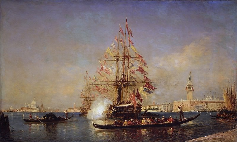 Félix Ziem - Canon Blast, Venice. Metropolitan Museum: part 3
