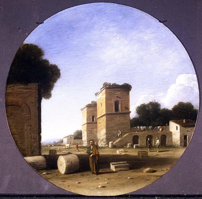 Гоффредо Валс - Римский пейзаж с фигурами. Музей Метрополитен: часть 3