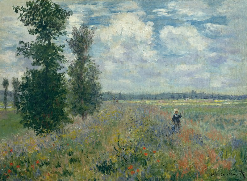 Claude Monet - Poppy Fields near Argenteuil. Metropolitan Museum: part 3