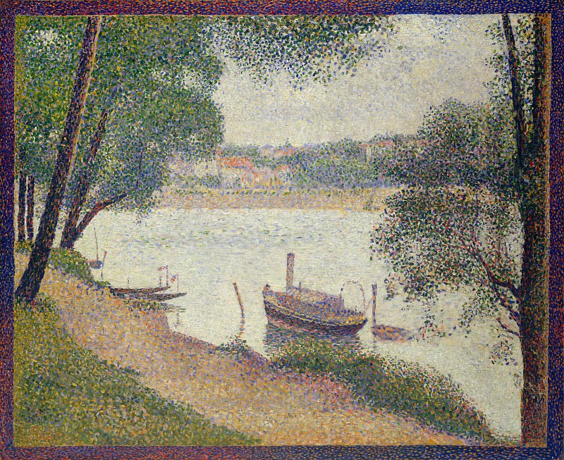 Georges Seurat - Gray Weather, Grande Jatte. Metropolitan Museum: part 3