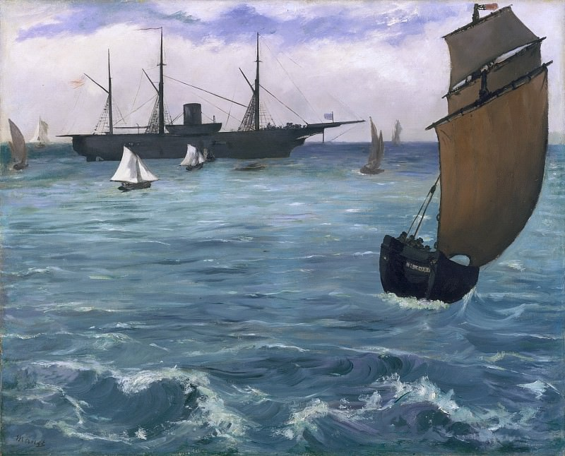 The Kearsarge at Boulogne. Édouard Manet