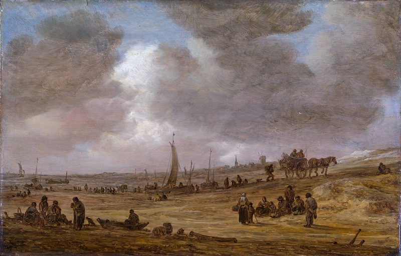 Jan van Goyen - A Beach with Fishing Boats. Metropolitan Museum: part 3