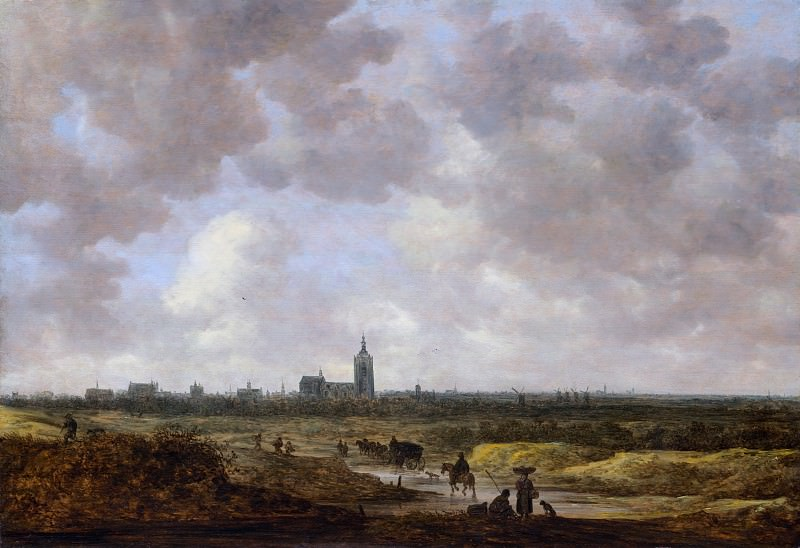 Jan van Goyen - A View of The Hague from the Northwest. Metropolitan Museum: part 3