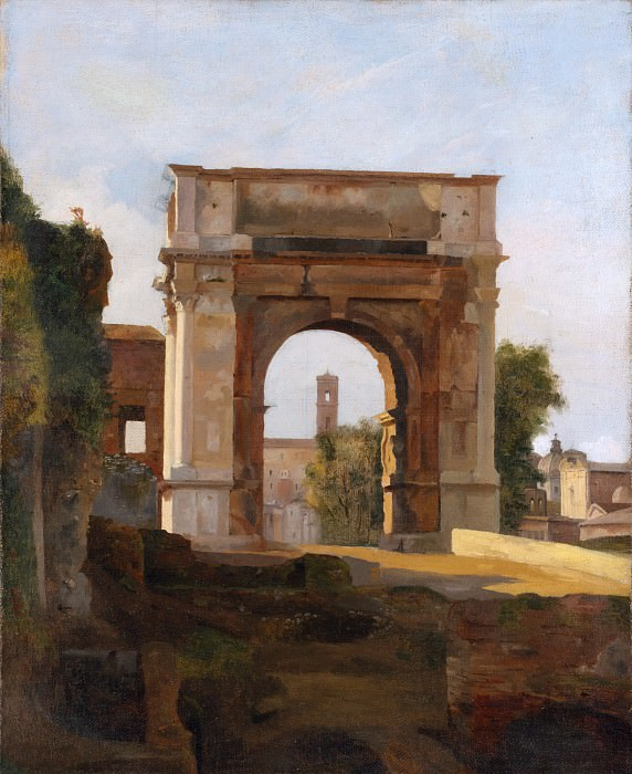 French Painter, early 19th century - The Arch of Titus and the Forum, Rome. Metropolitan Museum: part 3