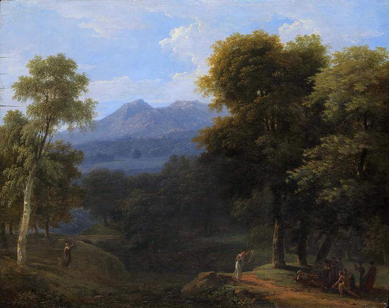 Jean-Victor Bertin - Classical Landscape with Figures. Metropolitan Museum: part 3