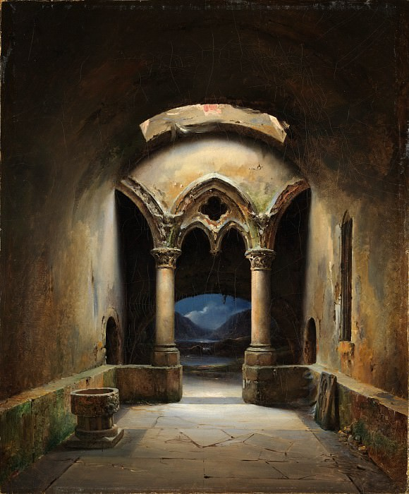 Charles-Marie Bouton - Gothic Chapel. Metropolitan Museum: part 3