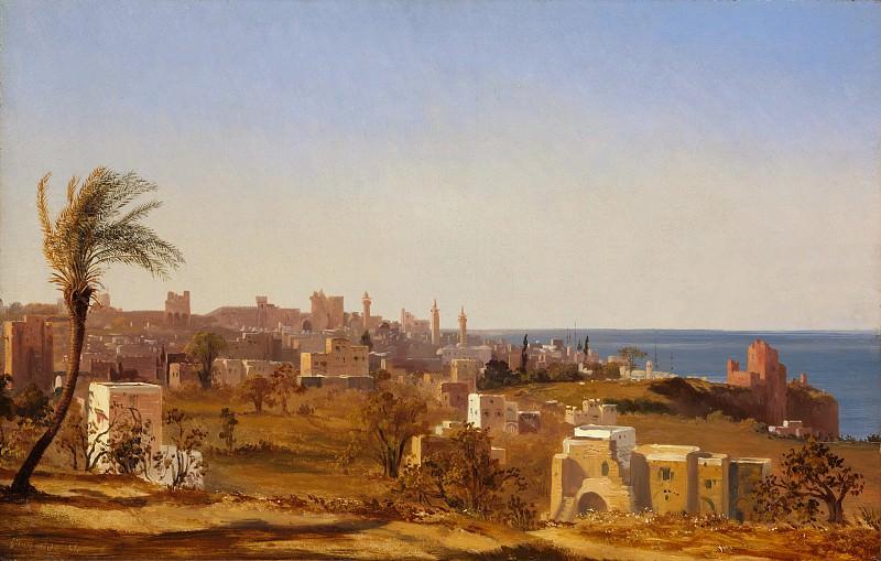 Jules Coignet - View of Beirut. Metropolitan Museum: part 3