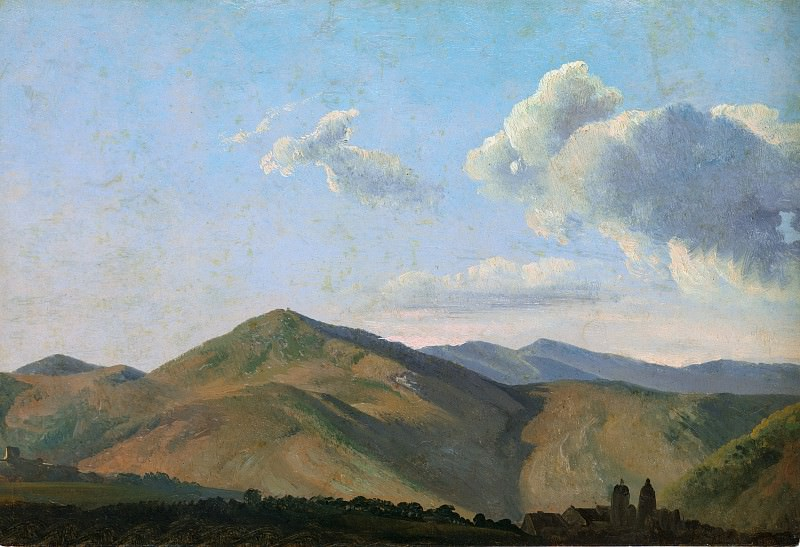 Simon Denis - Mountainous Landscape at Vicovaro. Metropolitan Museum: part 3