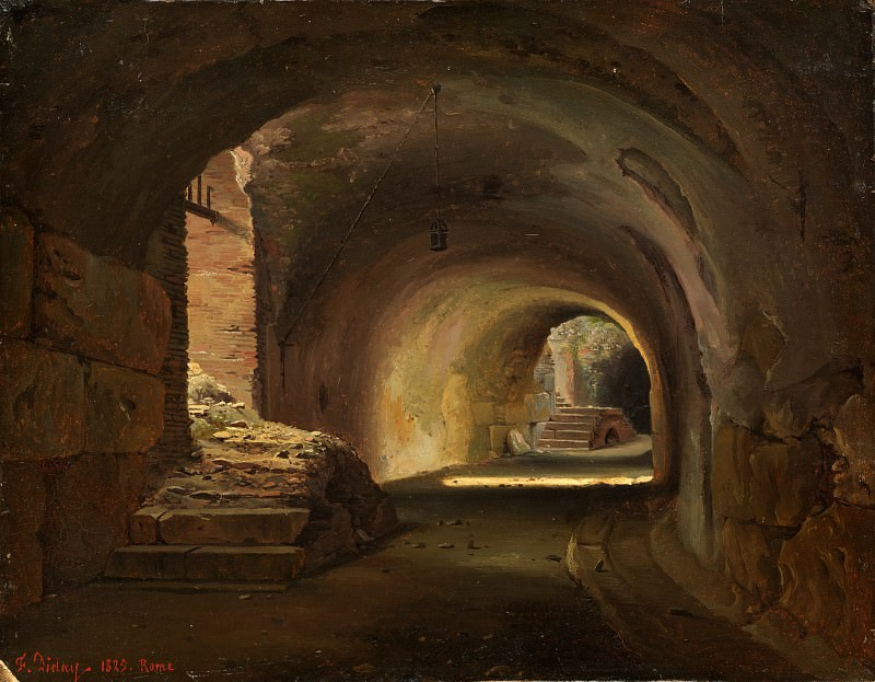 François Diday - Interior Passage in the Colosseum. Metropolitan Museum: part 3