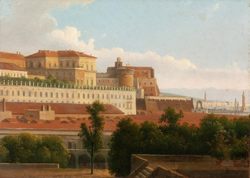 Alexandre-Hyacinthe Dunouy - The Palazzo Reale and the Harbor, Naples. Metropolitan Museum: part 3