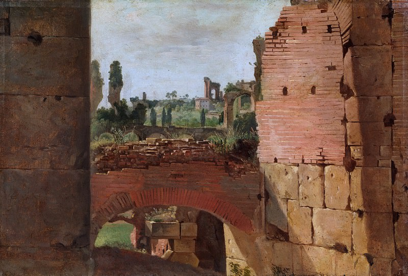 German Painter, early 19th century - View from the Colosseum towards the Palatine. Metropolitan Museum: part 3
