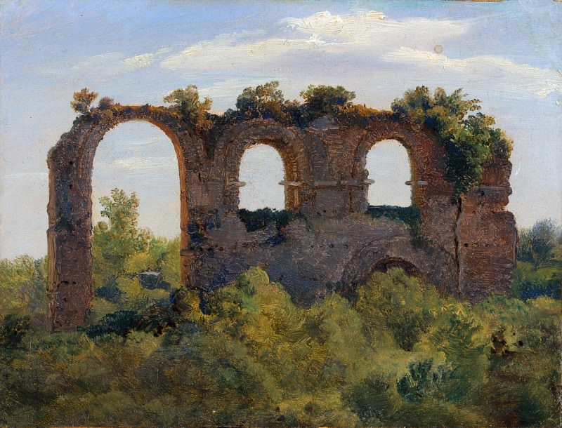 André Giroux - A Section of the Claudian Aqueduct, Rome. Metropolitan Museum: part 3