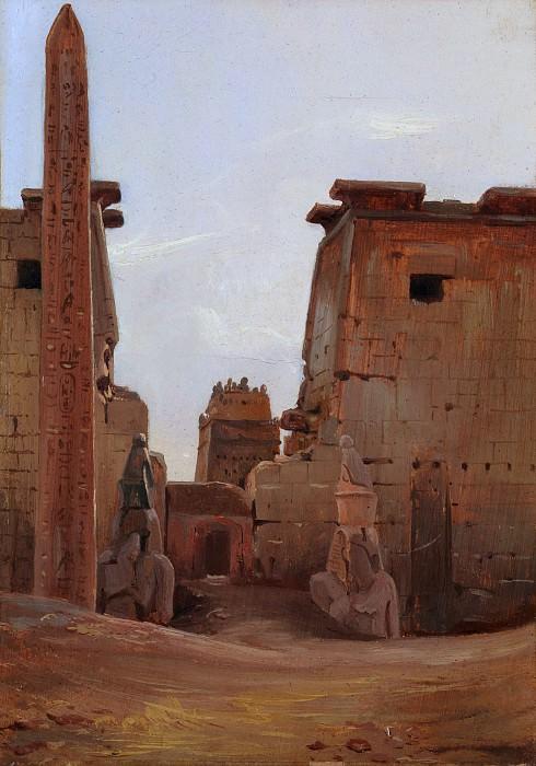 Antoine-Xavier-Gabriel de Gazeau, comte de La Bouëre - The Gate to the Temple of Luxor. Metropolitan Museum: part 3