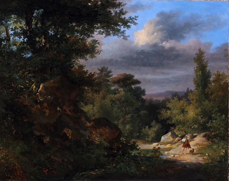 French Painter, 19th century - Landscape with a Shepherd. Metropolitan Museum: part 3