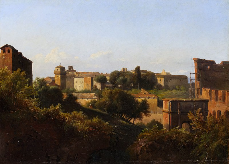 Charles Rémond - View of the Colosseum and the Arch of Constantine from the Palatine. Metropolitan Museum: part 3