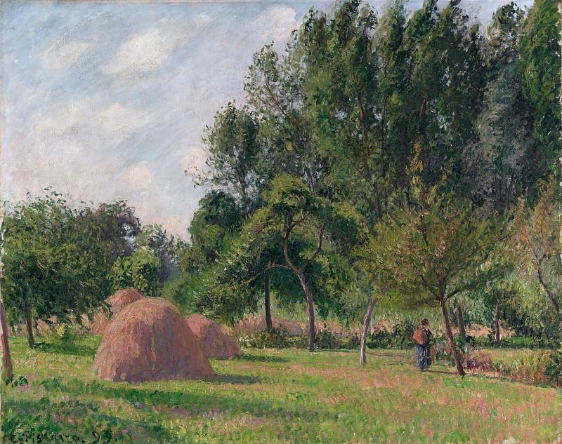 Camille Pissarro - Haystacks, Morning, Eragny. Metropolitan Museum: part 3