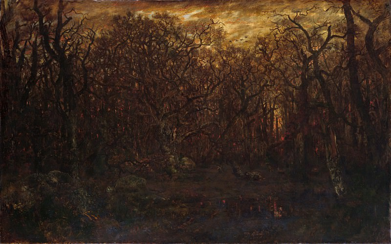 Théodore Rousseau - The Forest in Winter at Sunset. Metropolitan Museum: part 3