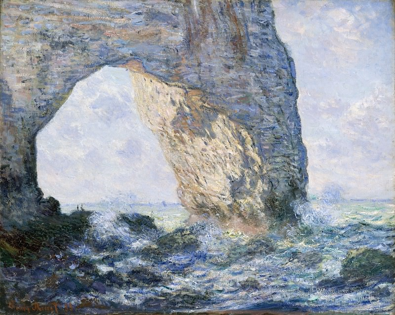 Claude Monet - The Manneporte (Étretat). Metropolitan Museum: part 3