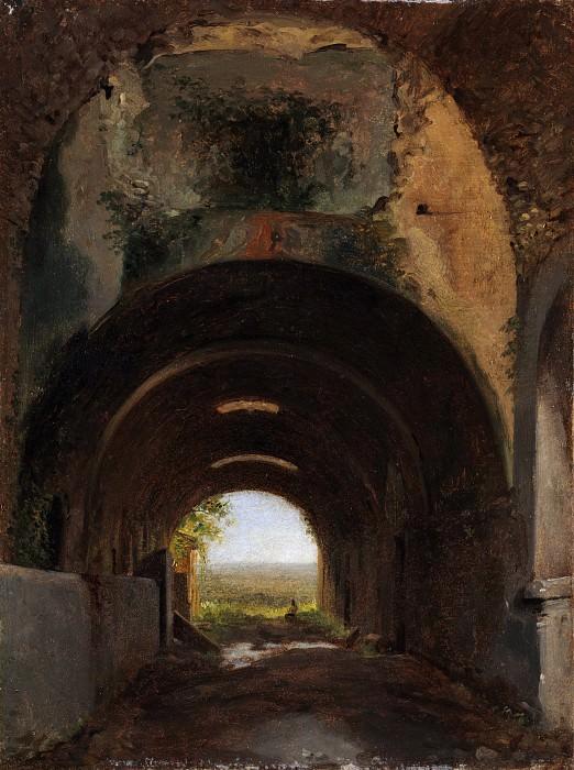 François-Marius Granet - View in the Stables of the Villa of Maecenas, Tivoli. Metropolitan Museum: part 3