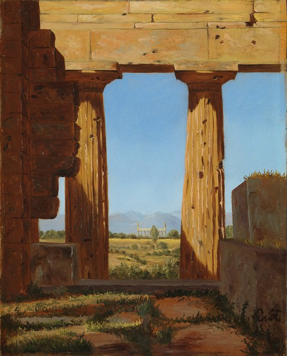 Constantin Hansen - Columns of the Temple of Neptune at Paestum. Metropolitan Museum: part 3