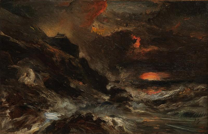 Eugène Isabey - A Storm off the Normandy Coast. Metropolitan Museum: part 3