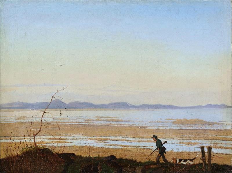 Johan Thomas Lundbye - An Evening beside Lake Arresø. Metropolitan Museum: part 3