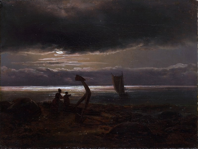 Johan Christian Dahl - Mother and Child by the Sea. Metropolitan Museum: part 3