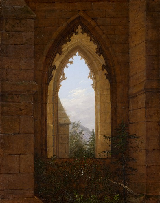 Carl Gustav Carus - Gothic Windows in the Ruins of the Monastery at Oybin. Metropolitan Museum: part 3