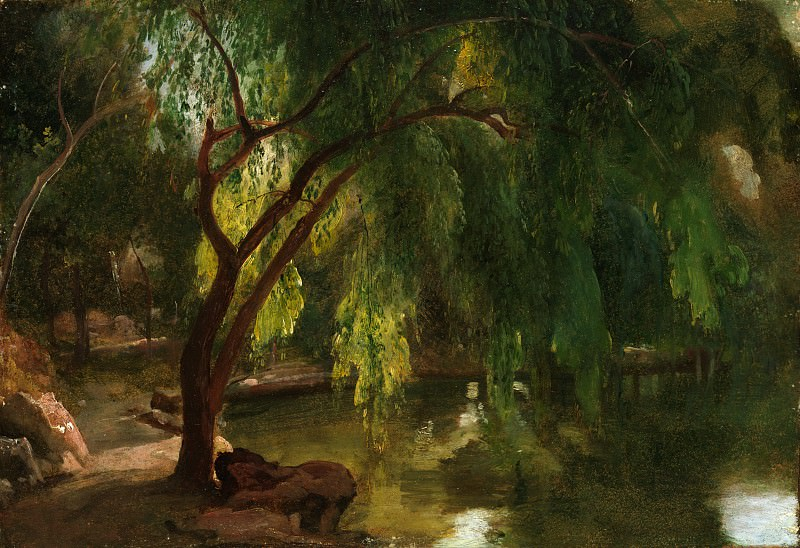 Carl Blechen - View in the Tiergarten, Berlin. Metropolitan Museum: part 3
