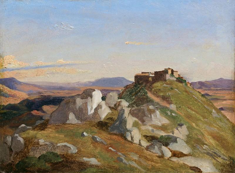Théodore Caruelle d'Aligny - Landscape at Olevano. Metropolitan Museum: part 3
