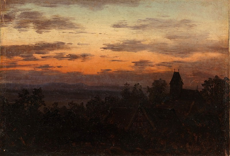 Карл Густав Карус - Пейзаж на закате. Музей Метрополитен: часть 3