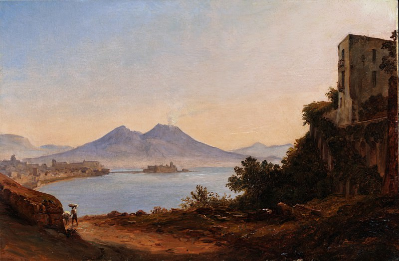 Franz Ludwig Catel - The Bay of Naples with Vesuvius and Castel dell'Ovo. Metropolitan Museum: part 3