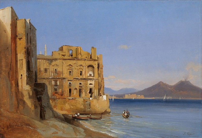 Jules Coignet - The Palace of Donn'Anna, Naples. Metropolitan Museum: part 3