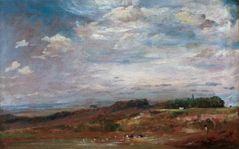 John Constable - Hampstead Heath with Bathers. Metropolitan Museum: part 3