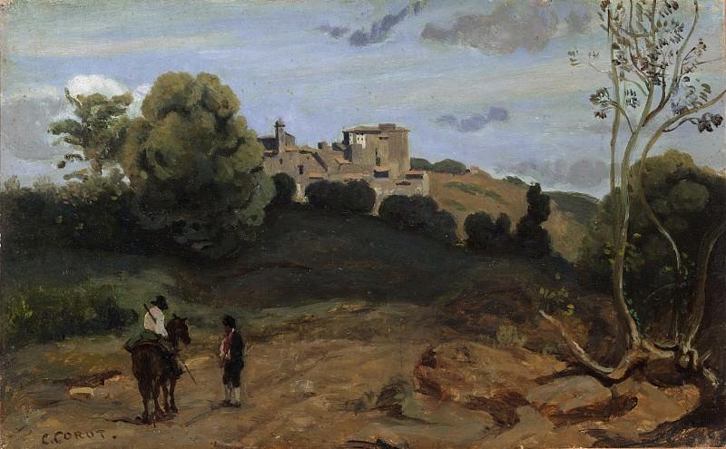 Камиль Коро - Вид Дженцано с всадником и крестьянином. Музей Метрополитен: часть 3