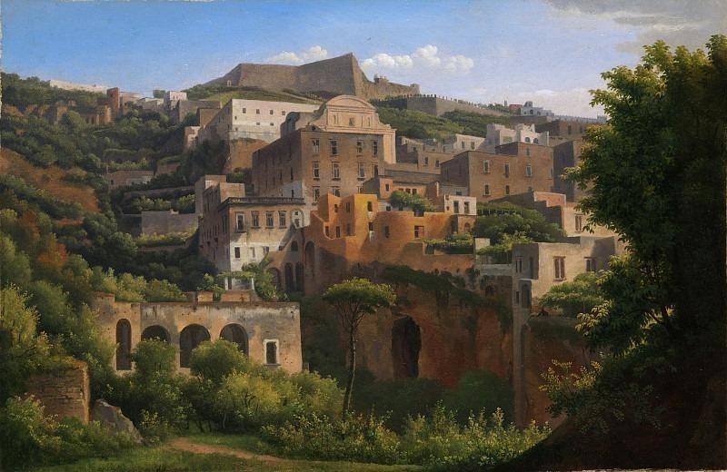 Alexandre-Hyacinthe Dunouy - Castel Sant'Elmo from Chiaia, Naples. Metropolitan Museum: part 3