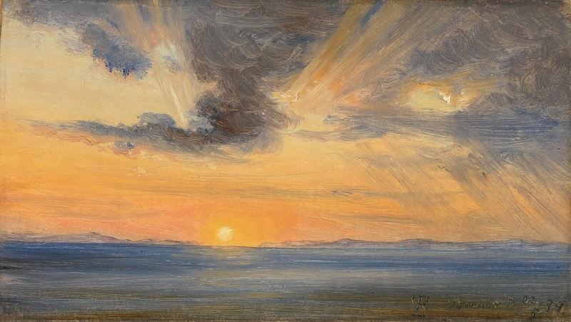 Thomas Fearnley - Sunset, Sorrento. Metropolitan Museum: part 3